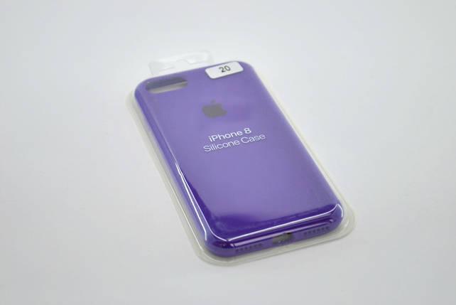 Чехол iPhone XS Max Silicone Case original FULL №20 ultra violet, фото 2