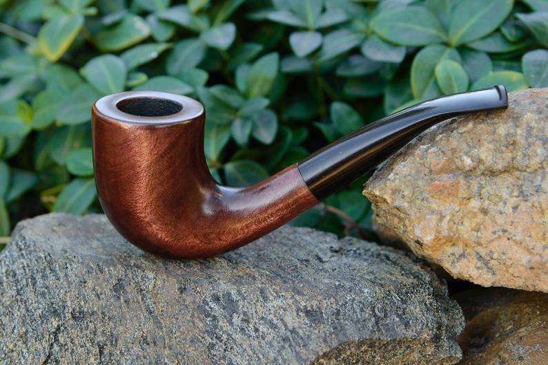 Классическая трубка Шерлока Холмса KAF231 Bent прямоток из дерева груши