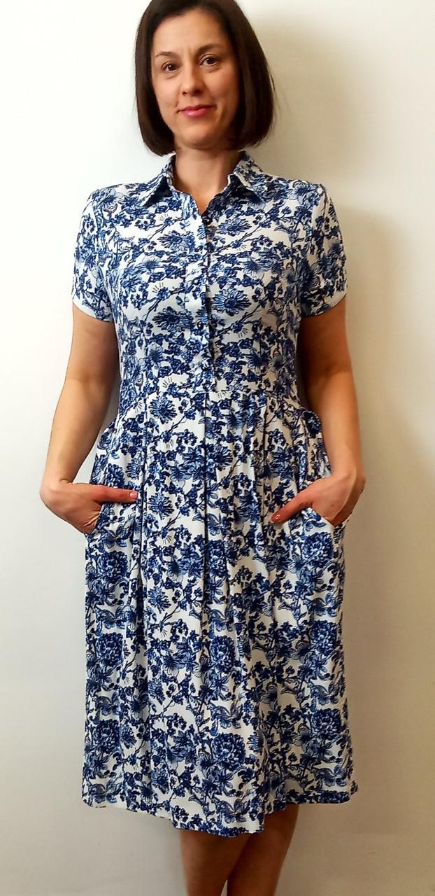 Платье-миди из стретч-льна