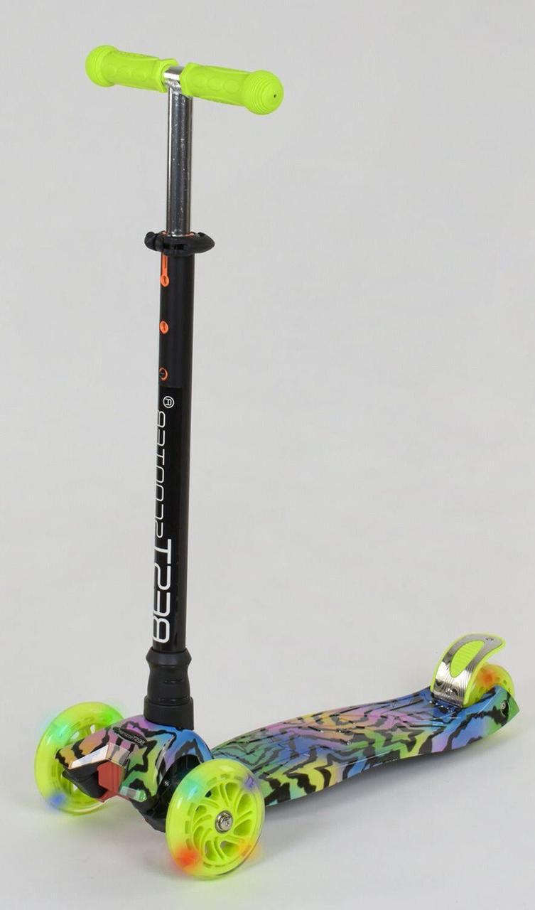 Детский самокат макси Best Scooter MAXI PRINT Звезда