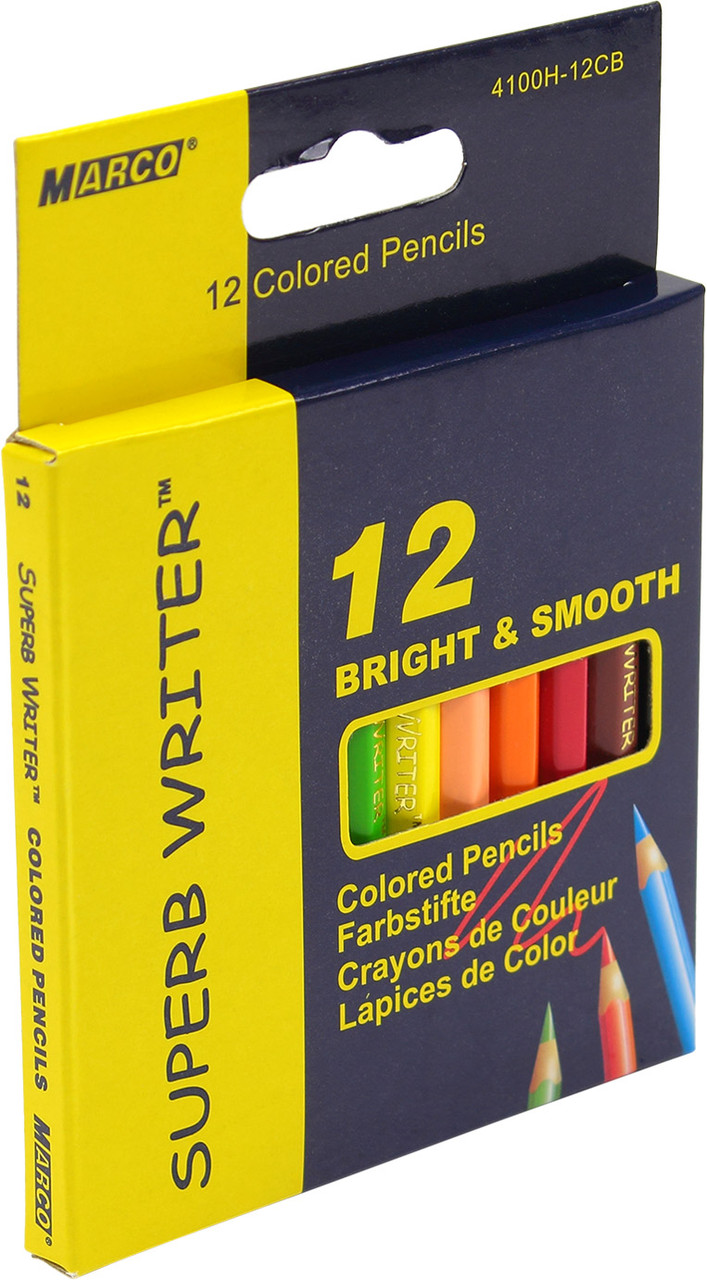 "Олівці кольор. 12 кольор. ""Marco"" №4100H-12CB короткі(12)(240)"