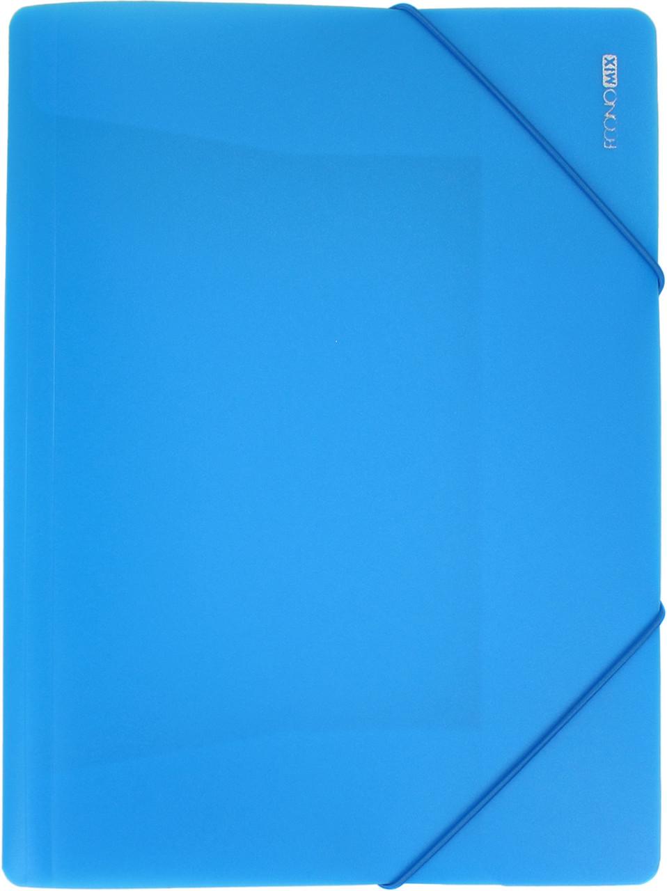 """Папка Economix"""" №E31633-11 A4 для докум. пласт. на рез. блакитна(1)(20)"""
