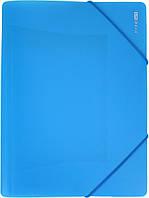 """Папка Economix"""" №E31633-11 A4 для докум. пласт. на рез. блакитна(1)(20), фото 1"""