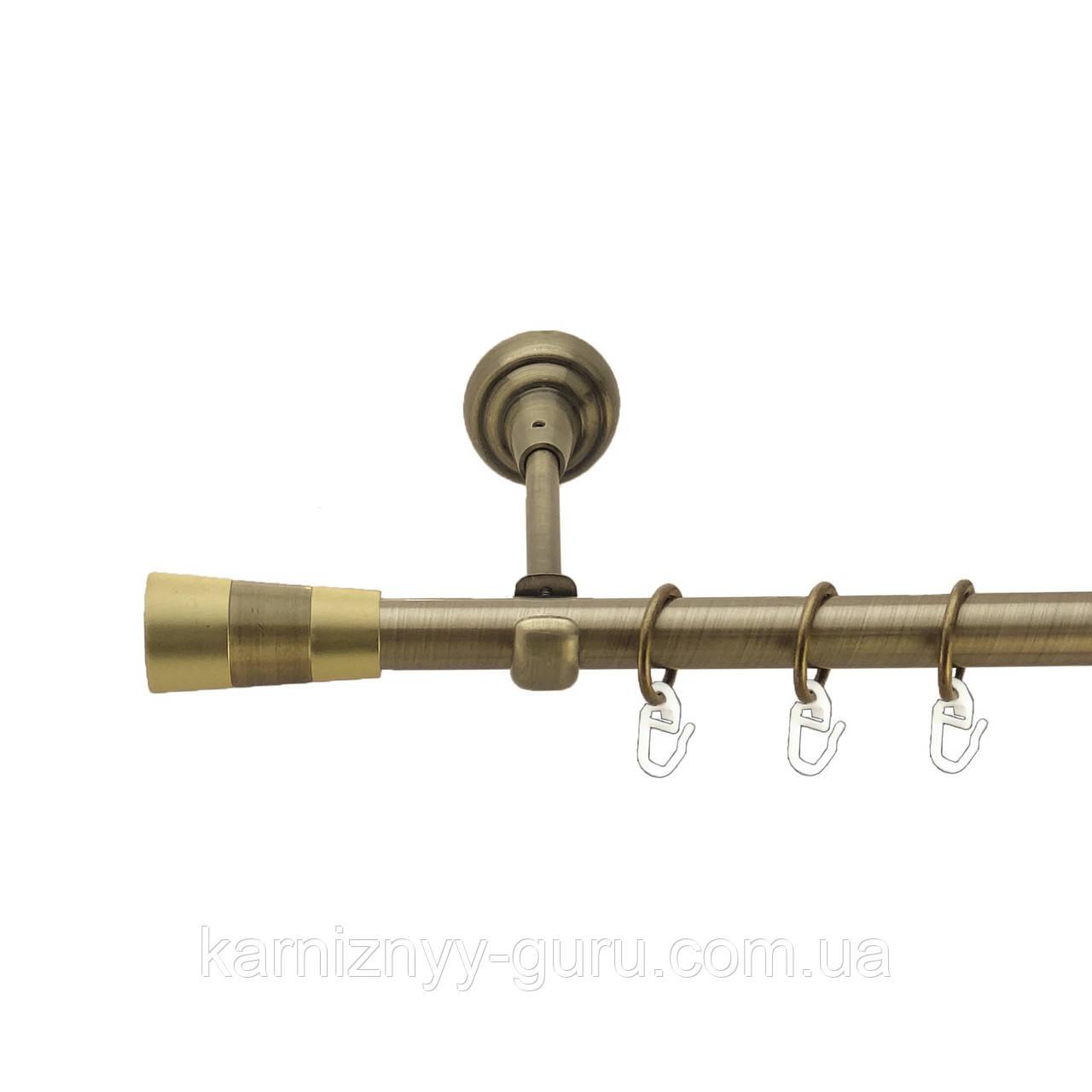 Карниз для штор ø 16мм, одинарный, наконечник Валео
