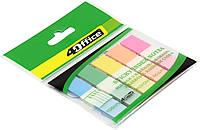 """Стікери-закладки """"4Office"""" №4-427PP 5 кольорів по 20арк. 12х45мм(50)"""