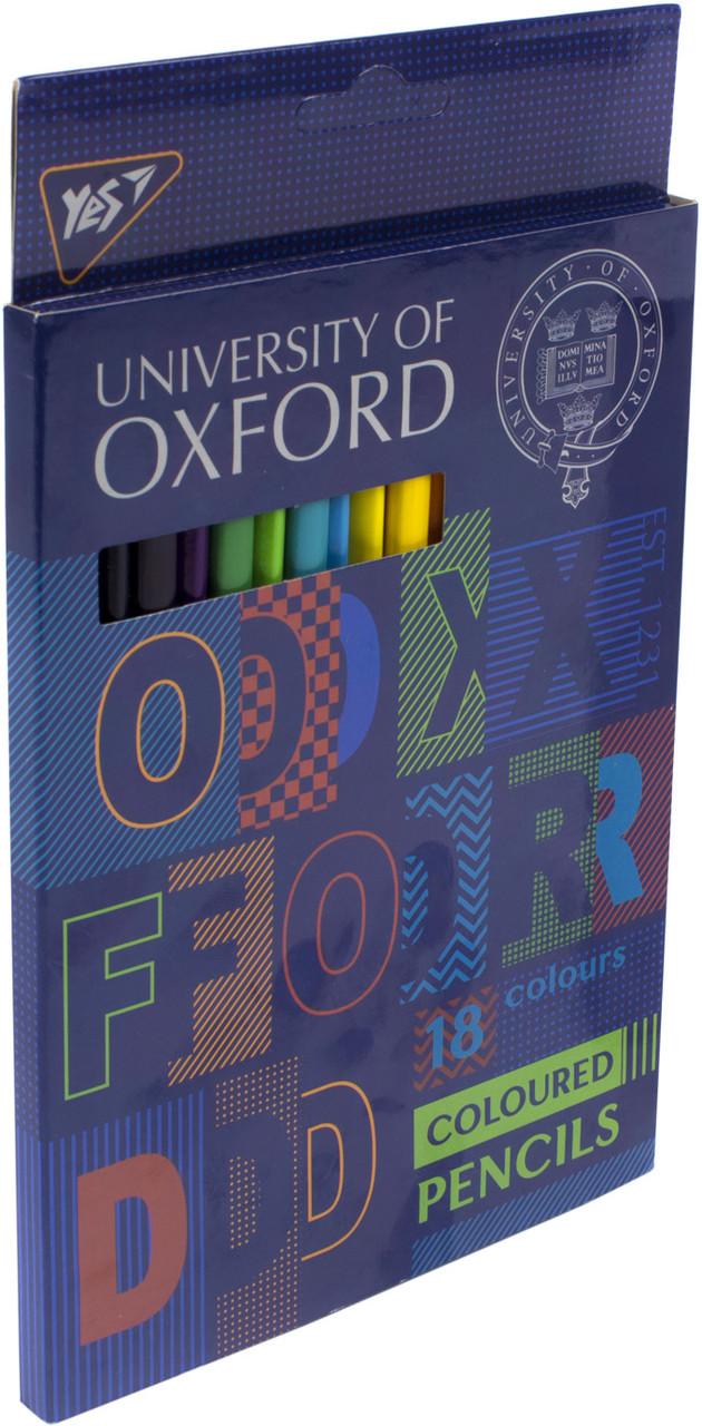 """Олівці кольор. 18 кольор. """"Yes"""" №290542 Oxford(8)"""