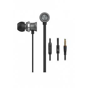 Наушники Celebrat D7 (микрофон, плоский шнур) Black/grey