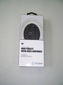 Наушники Celebrat N1 (микрофон, плоский шнур) Black
