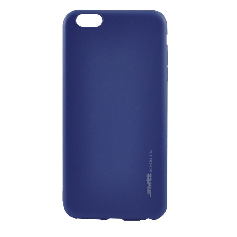 Чехол Samsung A8+/A730 (2018) Silicone Smitt blue