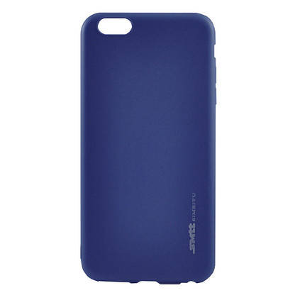 Чехол Samsung A8+/A730 (2018) Silicone Smitt blue, фото 2