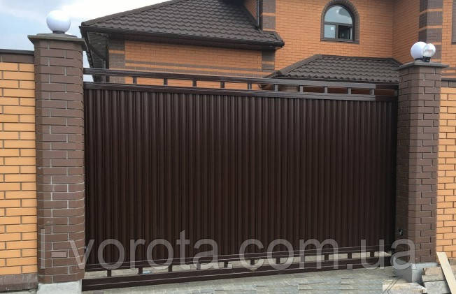 Откатные ворота ТМ HARDWICK ш3900, в2000 (дизайн Люкс)