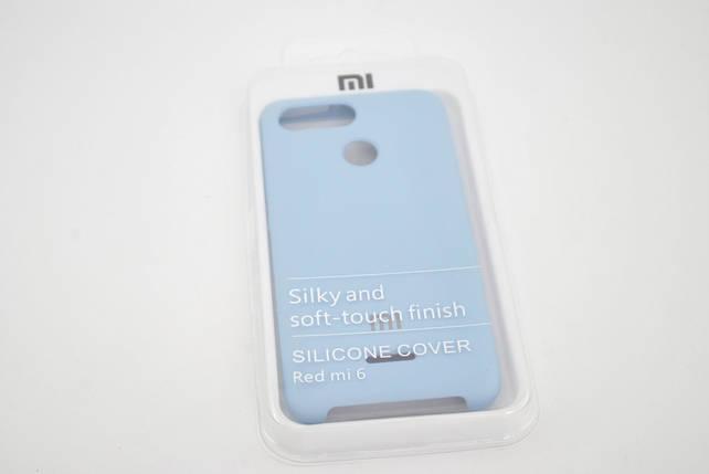 Чехол Xiaomi Redmi 6 Silicone Cover Soft touch (Logo) lavander, фото 2