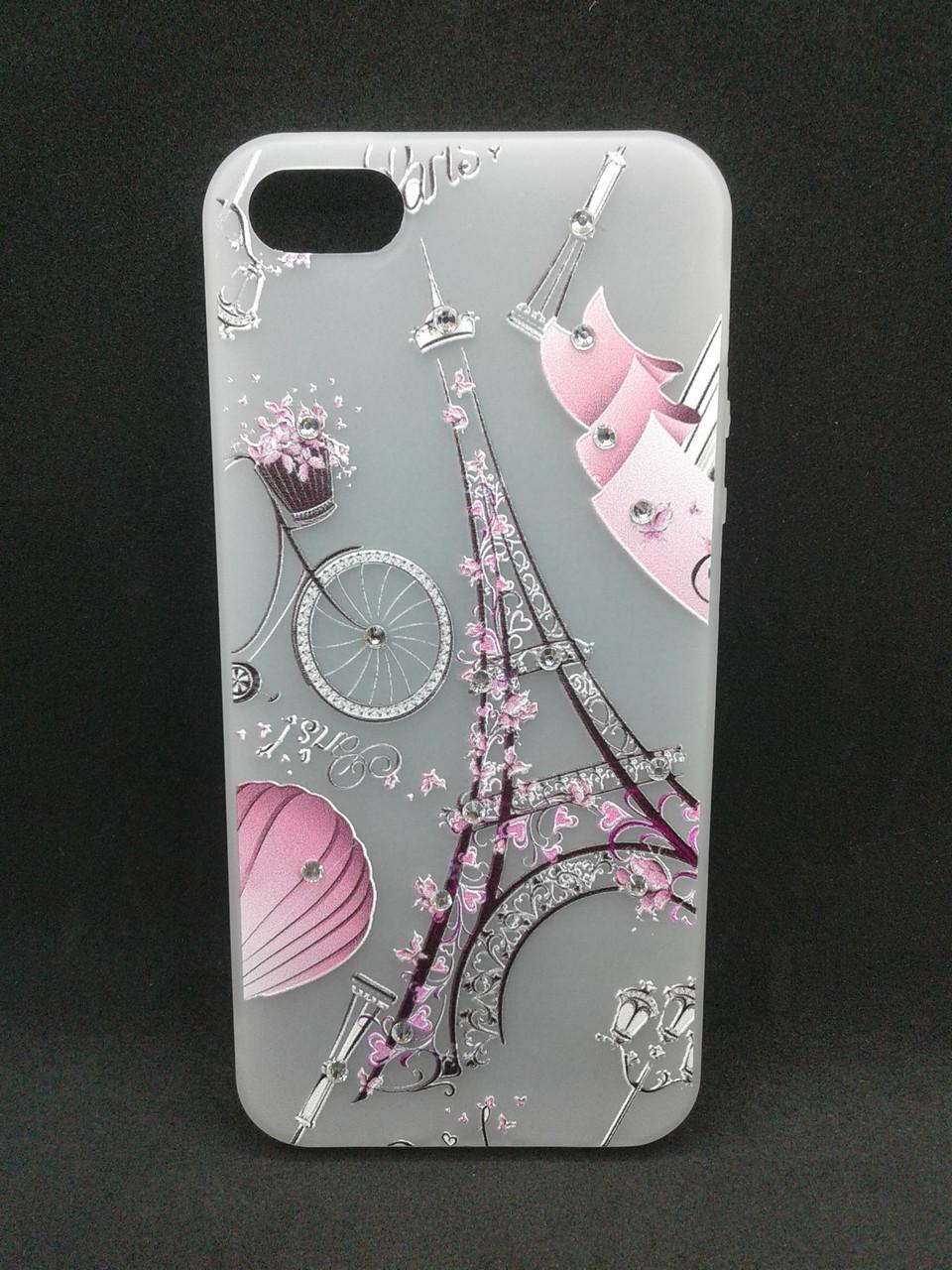 Чехол для телефона iPhone 7 /8 Silicone YOTOO Париж со стразами