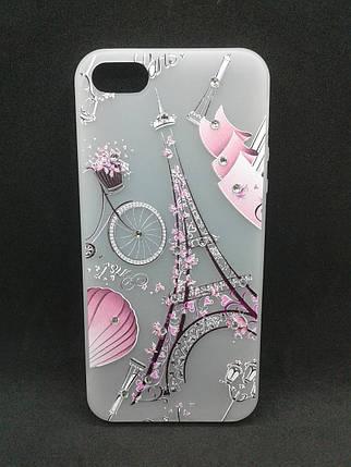 Чехол для телефона iPhone 7 /8 Silicone YOTOO Париж со стразами, фото 2