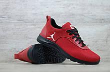 Мужские весенние кроссовки красніе текстильные/сетка  Jordan