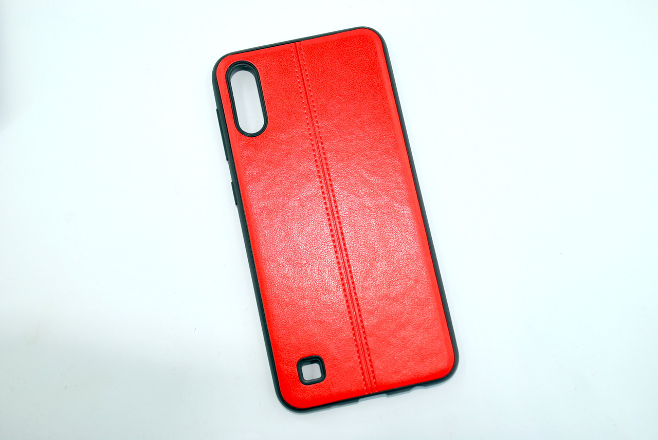Чехол Samsung A40/A405 (2019) Silicone Fashion Leather Red