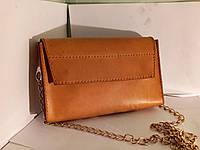 Кожаный клатч сумка женская