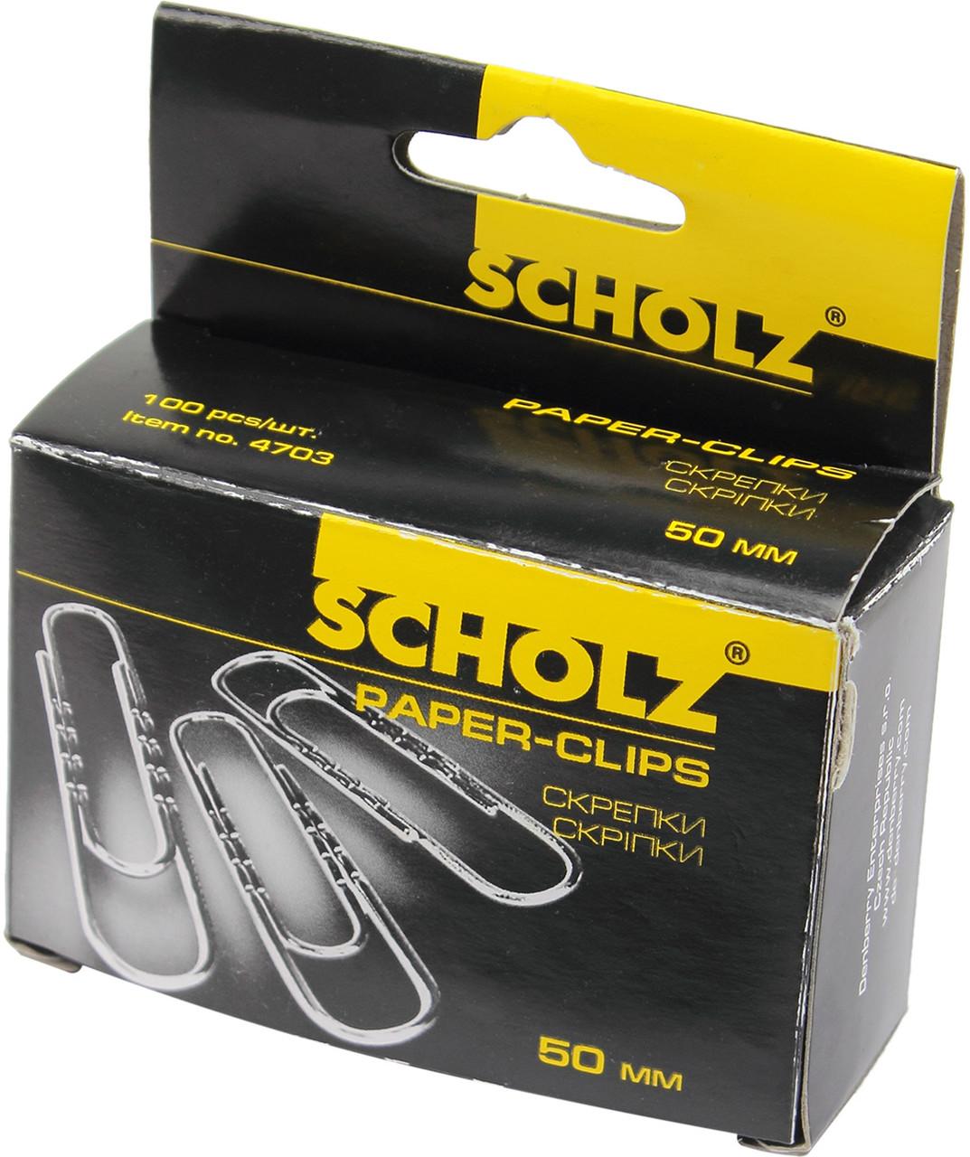 """Скріпки """"Scholz"""" №4703 50мм (100шт) прямі(10)"""