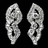 Срібні сережки з цирконом, 504СЦ
