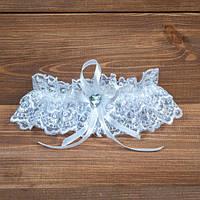 Подвязка на ногу невесты белая (арт. G-001)