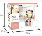 Детский игровой набор интерактивная кухня большая 898A свет звук вода холодильник вытяжка посудка, фото 2