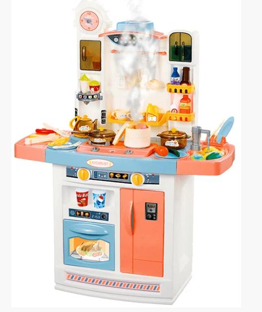 Детский игровой набор интерактивная кухня большая 898A свет звук вода холодильник вытяжка посудка