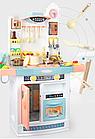 Детский игровой набор интерактивная кухня большая 898A свет звук вода холодильник вытяжка посудка, фото 3