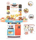 Детский игровой набор интерактивная кухня большая 898A свет звук вода холодильник вытяжка посудка, фото 5