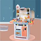 Детский игровой набор интерактивная кухня большая 898A свет звук вода холодильник вытяжка посудка, фото 6