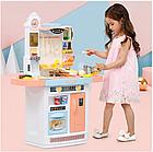 Детский игровой набор интерактивная кухня большая 898A свет звук вода холодильник вытяжка посудка, фото 7