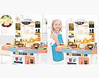 Детский игровой набор интерактивная кухня большая 898A свет звук вода холодильник вытяжка посудка, фото 8