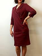 Платье из эко-замши с шалевым воротником