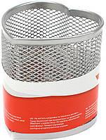 """Підставка для ручок серце """"Optima"""" №O36320-10 метал.,85х85х100мм,срібна(12)"""