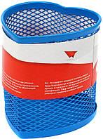 """Підставка для ручок серце """"Optima"""" №O36320-11 метал.,85х85х100мм,блакитна(12)"""