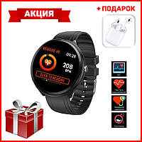 Умные часы c ПУЛЬСОКСИМЕТРОМ Smart Watch Смарт часы B12 + Наушники беспроводные i9s в ПОДАРОК
