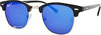 Солнцезащитные очки Ray Ban Clubmaster 3016 60 14-130 C5 Polar синие поляризационные (реплика)