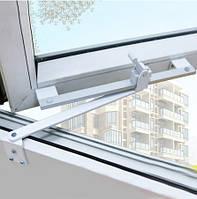 Ограничитель открывания створки металлопластикового окна со стопором