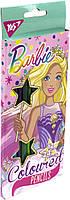 """Олівці кольор. 24 кольор./12шт """"Yes"""" №290551 Barbie(12)"""