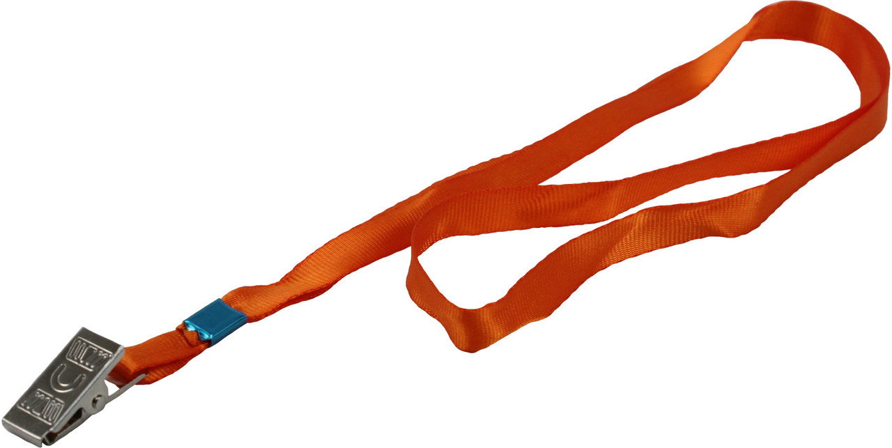 """Шнурок для бейджа з метал. кліпом """"Axent"""" №4532-12 помаранчевий(20)(25)(100)"""