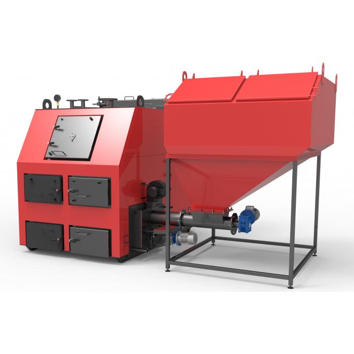 Твердотопливный котел Ретра-4М 550 кВт с НГС и автоматической подачей топлива