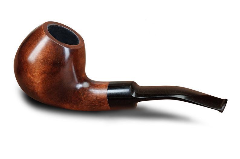Курительная трубка ручной работы KAF202 Bent Apple Шерлок Холмс из дерева груши под 9 мм фильтр