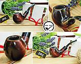 Курительная трубка ручной работы KAF202 Bent Apple Шерлок Холмс из дерева груши под 9 мм фильтр, фото 2