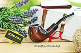 Курительная трубка ручной работы KAF202 Bent Apple Шерлок Холмс из дерева груши под 9 мм фильтр, фото 3