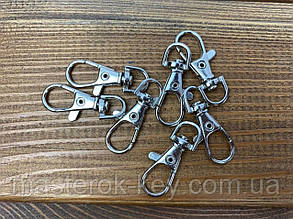 Карабин для ключей и ленты М-1206 цвет никель