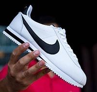 Кроссовки Nike Wmns Classic Cortez Leather белого цвета 807471 размеры 41 42 43 44 45 46