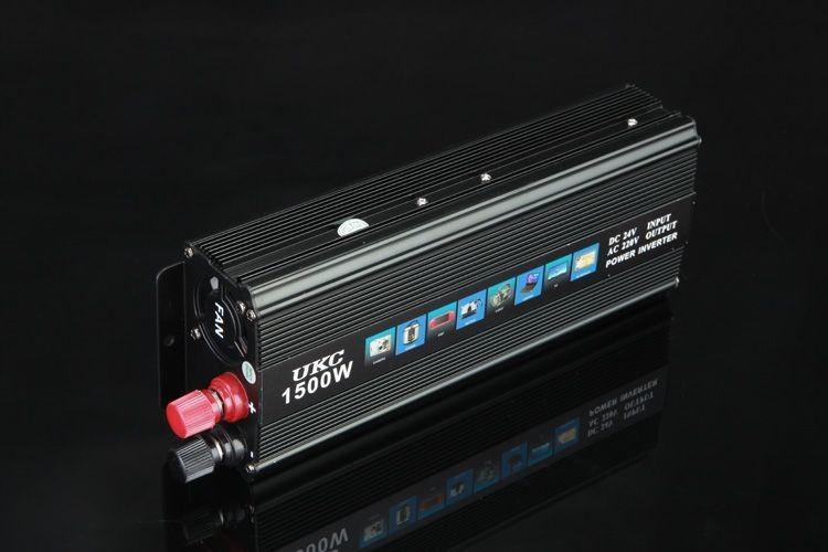 Перетворювач напруги 1500W (інвертор 24В/220В 1500Вт)