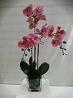 Композиция из искусственных розовых орхидей фаленопсис 3ст., фото 1