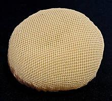 Сеточка на гульку/пучок эластичная 2 шт бежевая