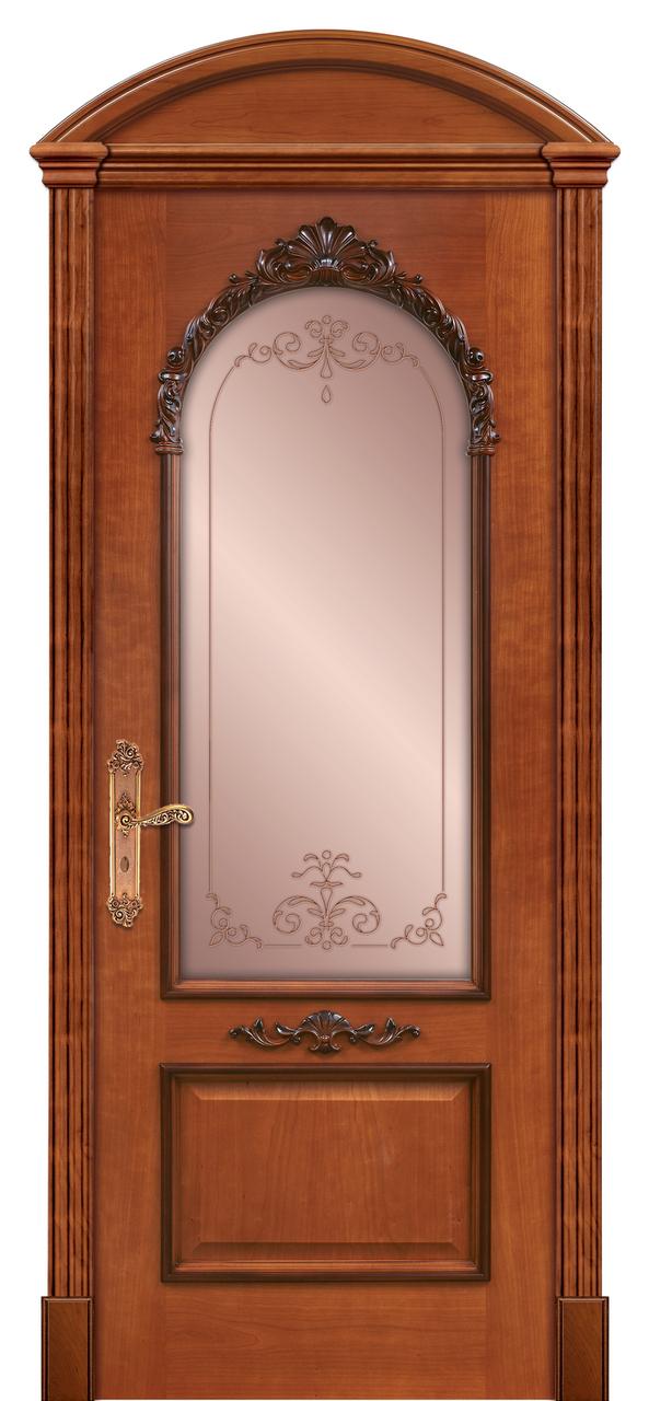 Двери межкомнатные деревянные, с массива ясеня, дуба, ольхи. Мод. 1281