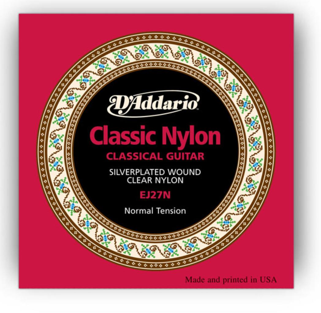 Струны для классической гитары D`ADDARIO EJ27N STUDENT CLASSICS NORMAL TENSION стандартное натяжение.